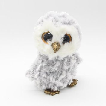 "Ty Beanie Boos Big Eyes 6"" 15cm Plush Owl Animal Toys"