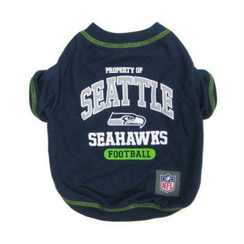 PEAPYW9 Seattle Seahawks Pet T-Shirt