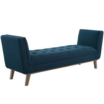 Haven Tufted Button Upholstered Fabric Accent Bench