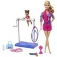 Barbie Gymnastic Coach Dolls and Playset