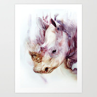 RHINO Art Print by beart24