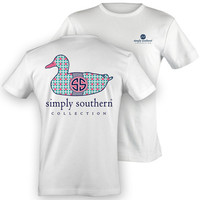 Simply Southern Youth Duck Top - White