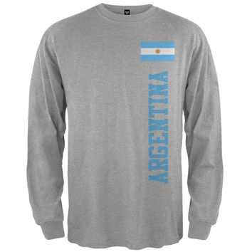 World Cup Argentina Grey Adult Long Sleeve T-Shirt