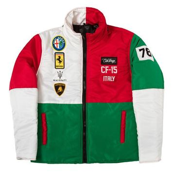 ONETOW Club Foreign Italy Bubble Jacket with Detachable Hood