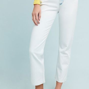 Paige Sarah Ultra High-Rise Straight Jeans