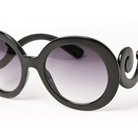 80's - baroque round oversized sunglasses (more colors) - 80's | 80's Purple