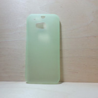 HTC One M8 super slim hard plastic case - Frosted Green