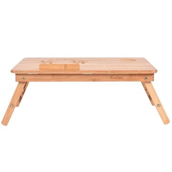 Portable Bamboo Laptop Desk Table with Drawer