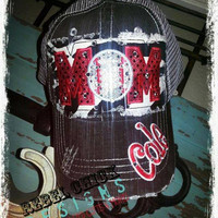 Personalized Blingy MOM Sports Team Hat