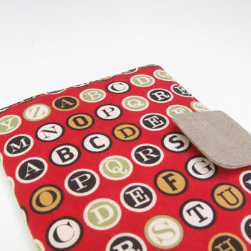 iPad Mini Cover Kindle Fire Cover Nook Simple Touch Cover Kobo Cover Case Vintage Typewriter Keys Letters eReader