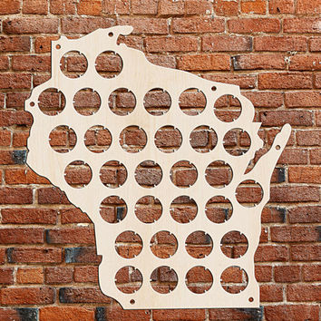 Wisconsin Beer Cap Map Beer Cap Display Personalized Gifts for men Valentines gift Birthday Gift For Dad Fathers Day Gift Gift For Boyfriend
