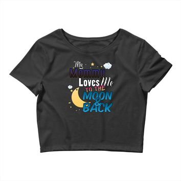 mommy  moon&back Crop Top