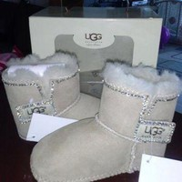 DCK7YE baby uggs baby boots fur boots