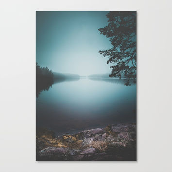 Lake insomnia Canvas Print by HappyMelvin