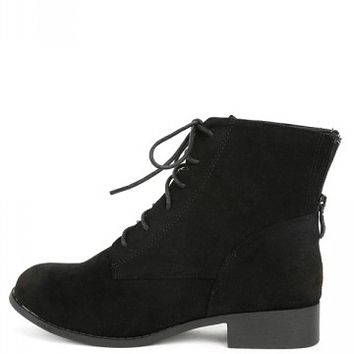 Ramses-1 Lace Up Suede Ankle Boots | MakeMeChic.com