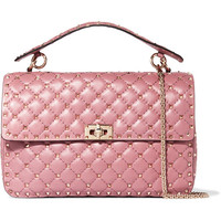 Valentino - Matelassé embellished quilted leather shoulder bag