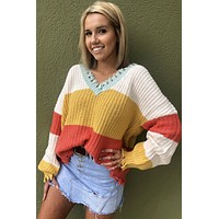 Happy Days Sweater- Multi Color
