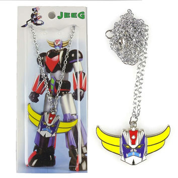 UFO Robot Grendizer Metal Pendant Necklace