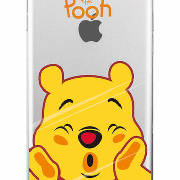 Winnie The Pooh Clear Phone Case For iPhone 7 7+ 6 6s Plus 5 5s SE + Samsung ALL