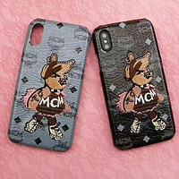MCM Fashion New Letter Embroidery Rabbit Animal Women Men Phone Case Protective Cover