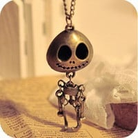 Retro skeletons of joint activities skull necklace sweater chain, lovely
