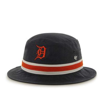 DCCKG8Q MLB 47 Brand Detroit Tigers Striped Bucket Bright-Navy