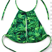 Kush Leaf Halter Top