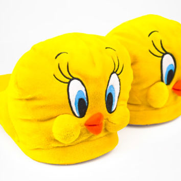 Tweety Bird Slippers | Looney Tunes Slippers | BunnySlippers.com