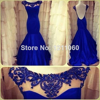 blue bridesmaid prom graduation evening gown dress