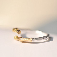 Branch Silver Ring for Women