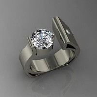 AMAZING 3.33CT WHITE ROUND 925 STERLING SILVER ENGAGEMENT AND WEDDING RING