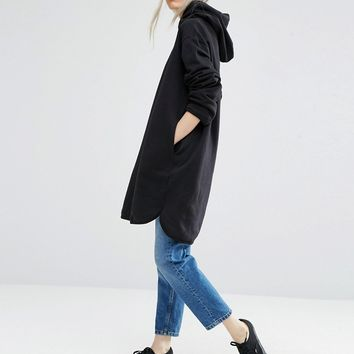 Weekday Longline Hoodie Sweat Dress