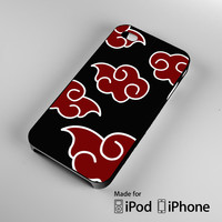 Naruto Akatsuki Cloud Emblem iPhone 4 4S 5 5S 5C 6, iPod Touch 4 5 Cases