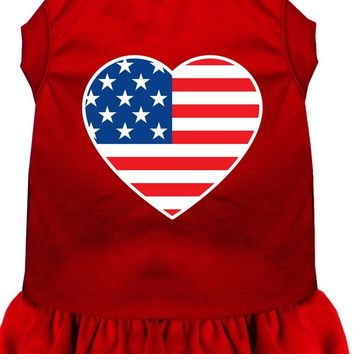 American Flag Heart Screen Print Dress Red Xxl (18)