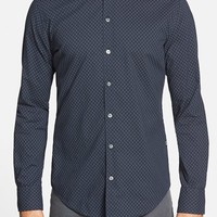 Men's BOSS 'Robbie' Trim Fit Dot Sport Shirt,