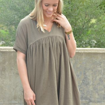 Come My Way Tunic - Olive
