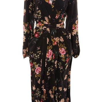 Floral Print Kimono Sleeve Maxi Dress by Yas - New In Dresses - New In