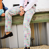 Madras Patchwork Harbor Pant