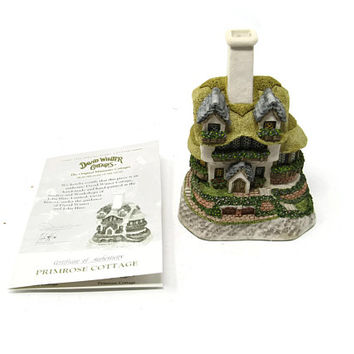 Primrose Cottage Signed David Winter Cottages 1996 Tudor Style Home Sculpture