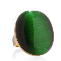 JOOLS AILEY Gold Green Stone Ring - ACCESSORIES | JEWELRY | Rings | Classic | PRET-A-BEAUTE.COM