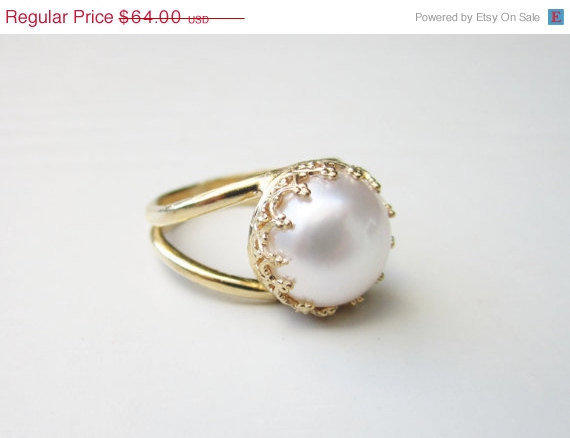 Holiday Sale Etsy Freshwater Pearl Ring From