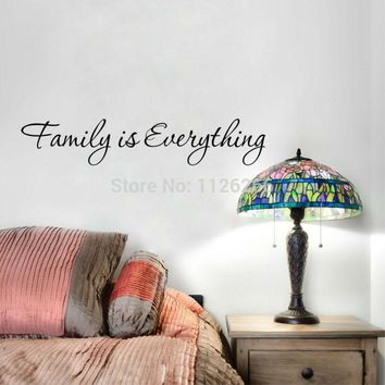Family Is Everything Vinyl Wall Sticker Quotes Decorative Art Decal Home Decor