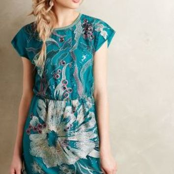 Sea Song Dress by Anna Sui Green Motif