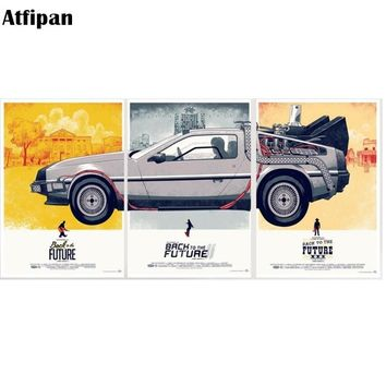 Back To The Future Vintage Movie Poster Car Poster Print Big Modern Pop Wall Art Picture Home Deco Canvas Painting Framed Gift