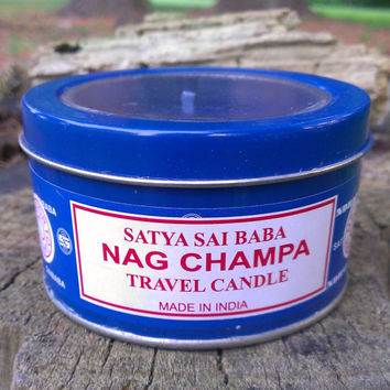 Nag Champa Scented Candle Tin