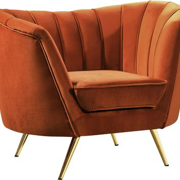 Margo Cognac Velvet Chair