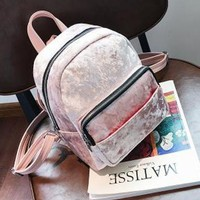 Metallic Velvet Backpack
