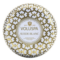 Suede Blanc 2 Wick Candle by Voluspa