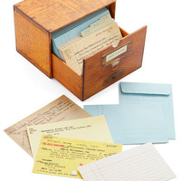 Vintage Inspired Long Overdue Notecard Set by Chronicle Books from ModCloth