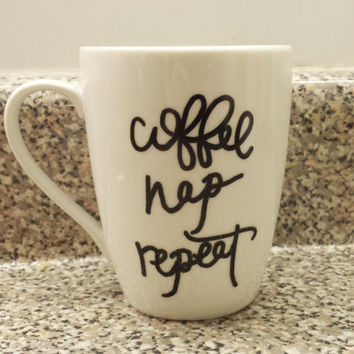 Coffee Nap Repeat Mug